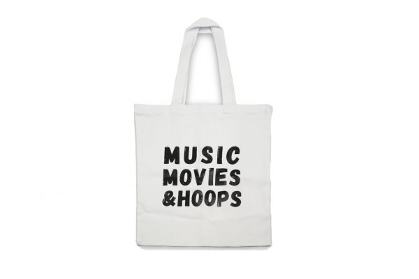 Music Movies and Hoops Tote