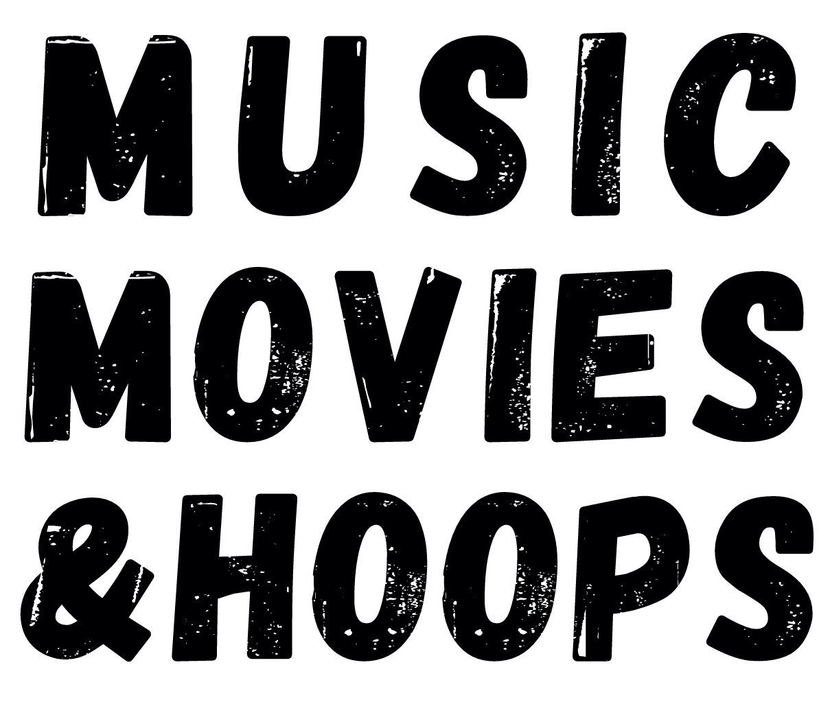 Music Movies and Hoops Logo