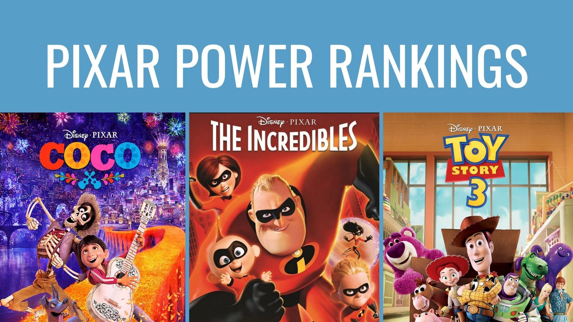 Pixar Power Rankings